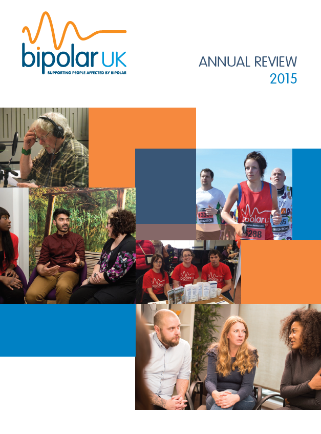 Bipolar UK Annual Review 2015 cover